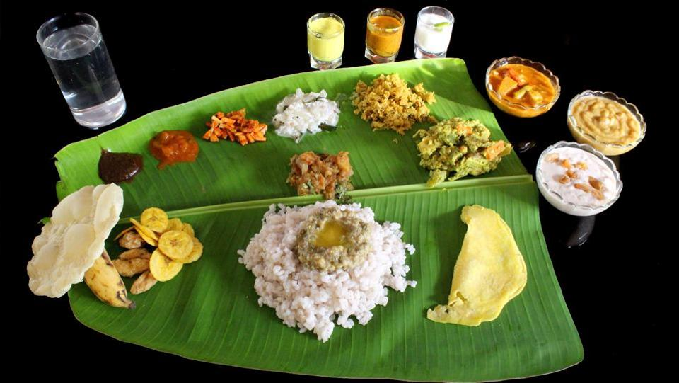 The most impressive part of Onam celebration is the grand feast called Onasadya, prepared on Thiruonam. It is a nine course meal consisting of 11 to 13 essential dishes. Onasadya is served on banana leaves and people sit on a mat laid on the floor to have the meal.