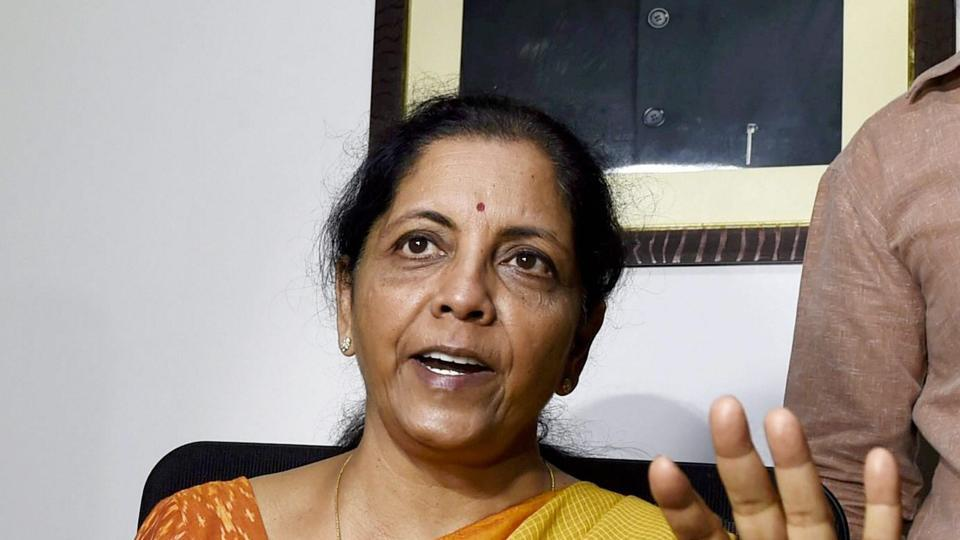 Nirmala Sitharaman addresses the media at her residence in New Delhi after taking oath as a Union Minister on Sunday. Sitharaman has been alloted the defence portfolio, the only second women since Indira Gandhi.