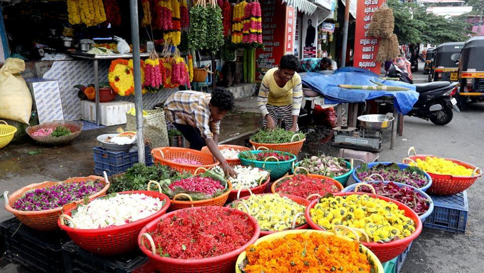 Flower merchants  to  sweet wallahs do a roaring business during the season of plenty . People thronged markets till last night to buy their favorite items for Onam celebrations.