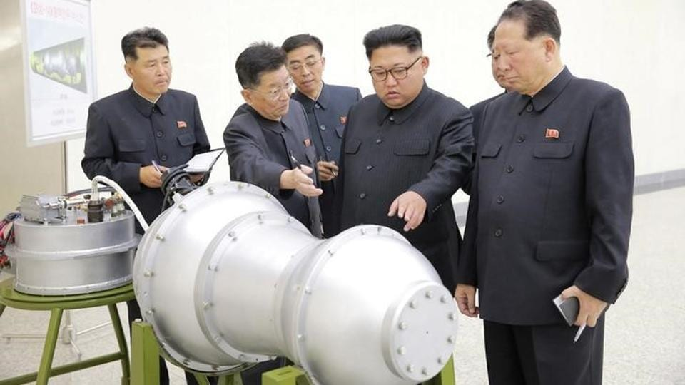 North Korean leader Kim Jong Un provides guidance on a nuclear weapons programme in this undated photo released by North Korea's Korean Central News Agency (KCNA) in Pyongyang. (REUTERS)