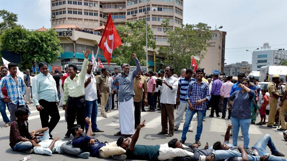 Political parties and pro-Tamil outfits stage state-wide protests over the suicide of a 17-year-old girl in Chennai.