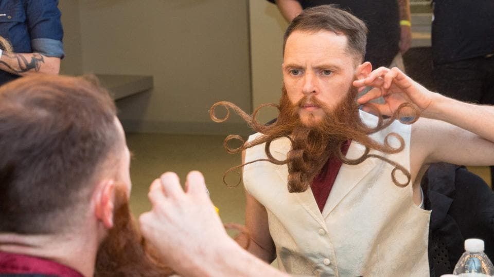 photos hairiest men face off at world beard and moustache championship wor. Black Bedroom Furniture Sets. Home Design Ideas