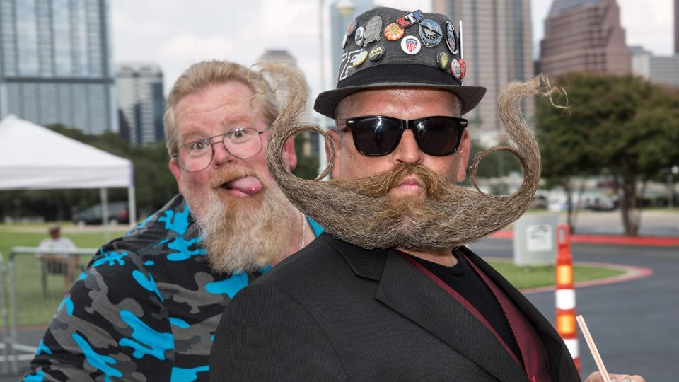 Thousands flocked to Austin, Texas on Sunday for the 2017 World Beard and Mustache Championships. The three-day event  attracted beard enthusiasts from all over the world and also fans who came to see the competition. (SUZANNE CORDEIRO / AFP)