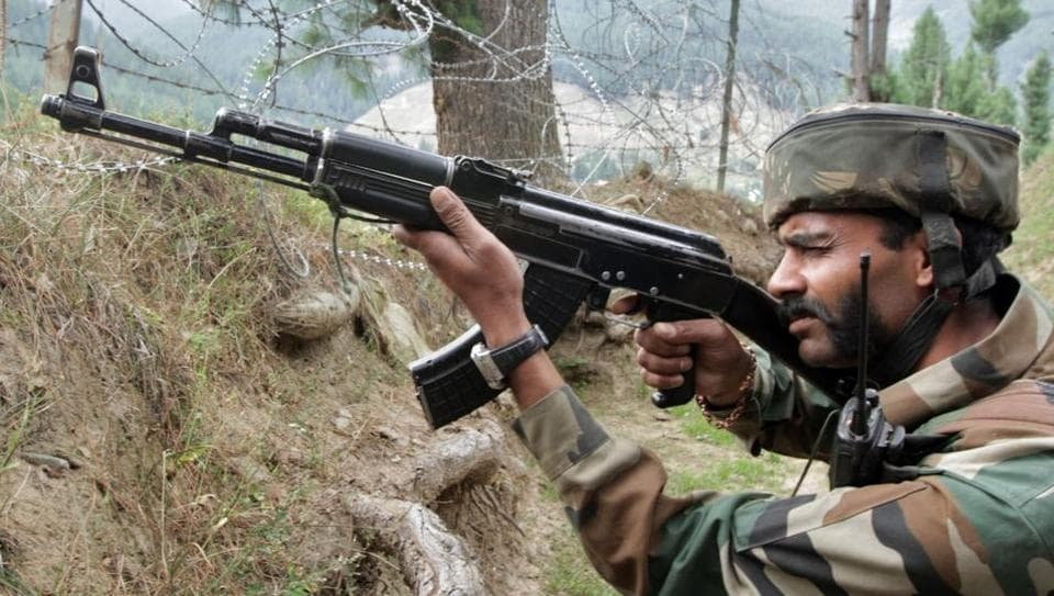 "The incident occurred at about 3:40 pm when a group of terrorists reached close to the IB fence and ""engaged"" Border Security Force troops at an observation post in the Arnia sector of Jammu."