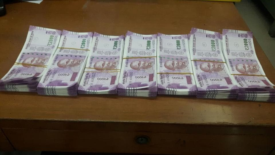 The seized fake currency.