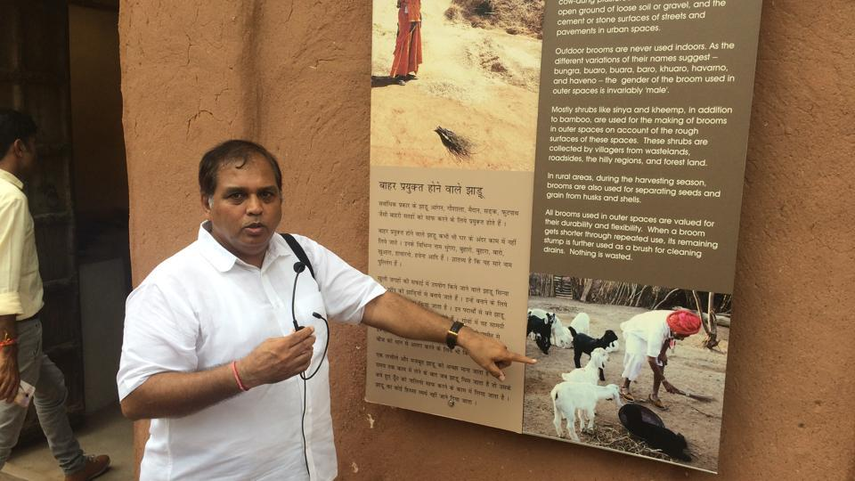 Kuldeep Kothari, who runs Arna Jharna, a museum of living traditions in Jodhpur.