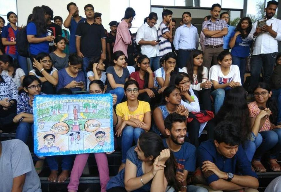 The students have requested the chief minister to take immediate action in the matter.