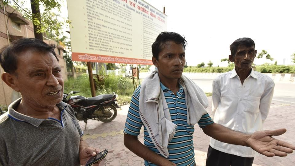 Sompal, father of five-year-old boy Sachin who died in his school in Dadri.