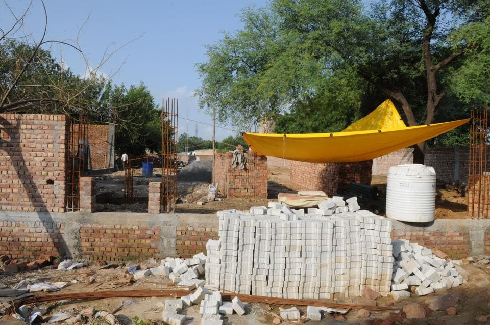 Work under way for the new crematorium in Gurgaon's Sector 16.