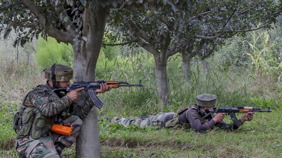 The forces came under heavy fire from the rebels and retaliated in which one militant was killed and another was injured.