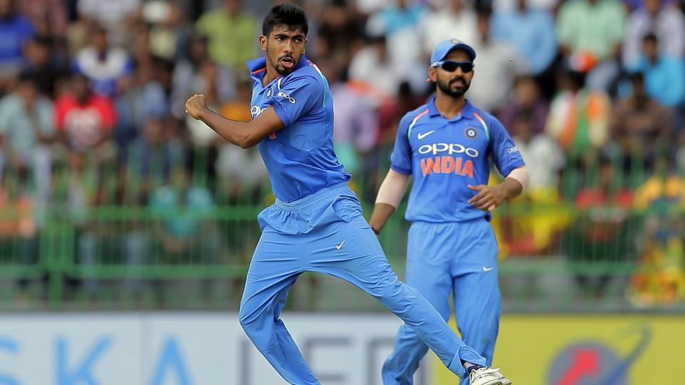 India's Jasprit Bumrah, left, had a successful outing against Sri Lanka in the ODI series.