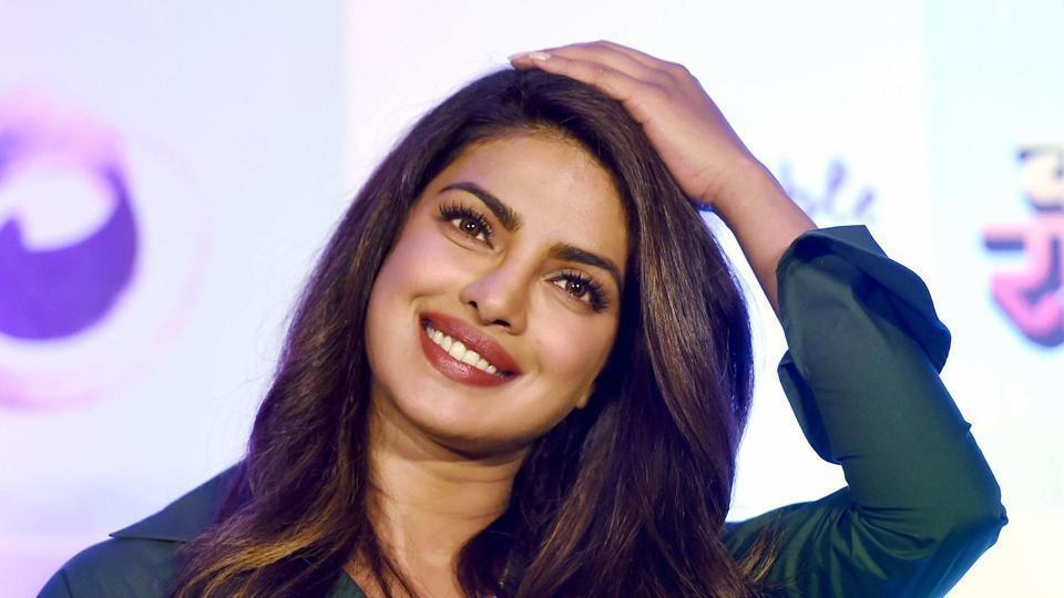 Priyanka Chopra during a promotional event of her Marathi production Kay Re Rascalaa in Mumbai.