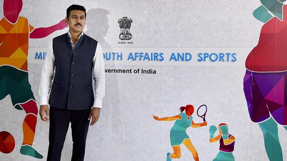 Rajyavardhan Singh Rathore succeeded Vijay Goel as India's sports minister.