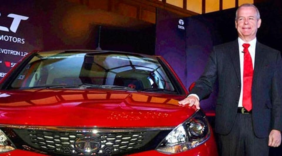 Timothy Leverton during the  launch of the Tata Bolt in Kolkata in 2015.