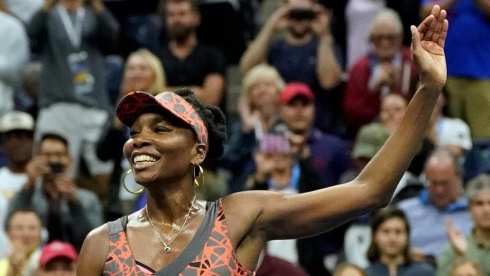 Venus Williams advanced to the US Open quarter-finals with a 6-3, 3-6, 6-1 win over Carla Suarez Navarro. (REUTERS)