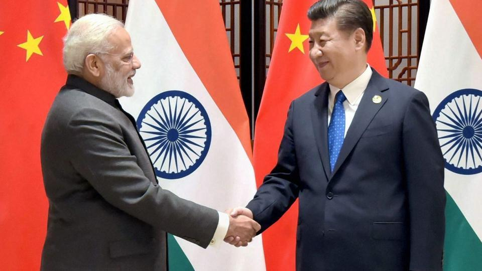 Prime Minister Narendra Modi with Chinese President Xi Jinping meet on the sidelines of the 9th BRICS Summit in Xiamen on Tuesday.