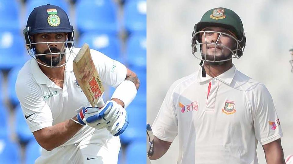 Sabbir Rahman (right) has been trolled by cricket fans after the Bangladesh batsman said he can become like Virat Kohli, the Indian cricket captain who has been in rocking form in Sri Lanka