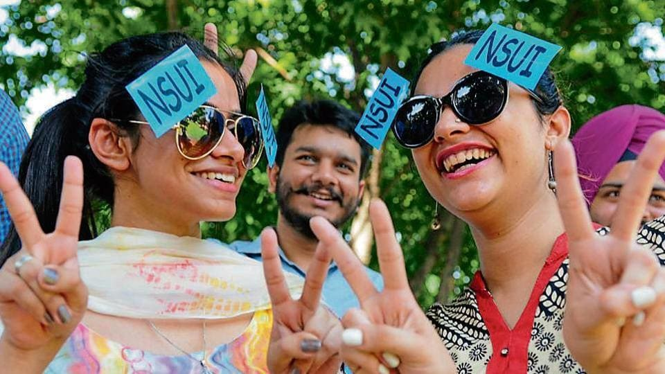 With the student council elections just round the corner, campaigning picked up steam on the Panjab University campus on Monday.