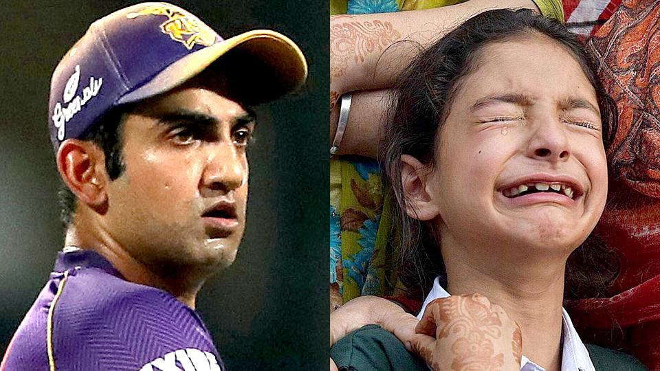 Gautam Gambhir, whose foundation is involved with charity work, has decided to support Zohra, the daughter of slain Jammu & Kashmir police officer Abdul Rashid.