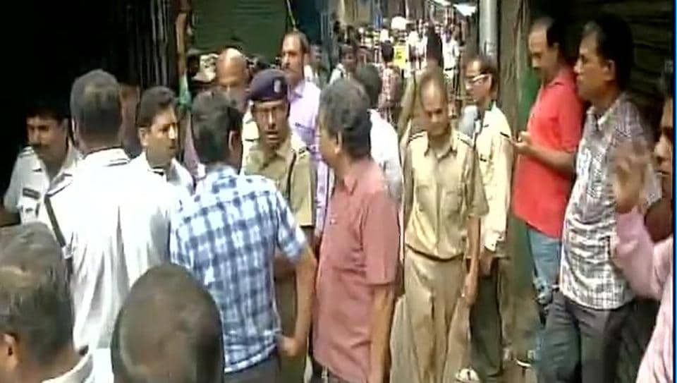 The injured in Kolkata building collapse were rushed to state-run Calcutta Medical College and Hospital