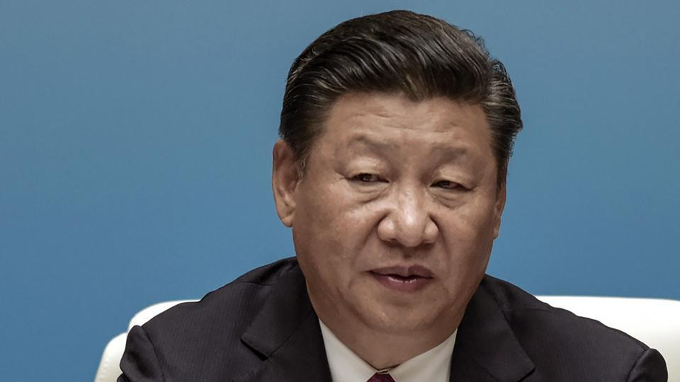 Chinese President Xi Jinping at the BRICS Summit in Xiamen, China, on Monday.