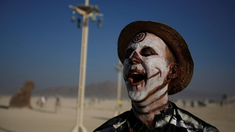 With no real dress codes, Burning Man is perhaps the largest opportunity for adults to step out in outlandish costumes and dressing styles outside of Halloween. Coordinated group outfits, facepaint, bodysuits and over the top accessories --Burning Man welcomes all. (Jim Urquhart / REUTERS)