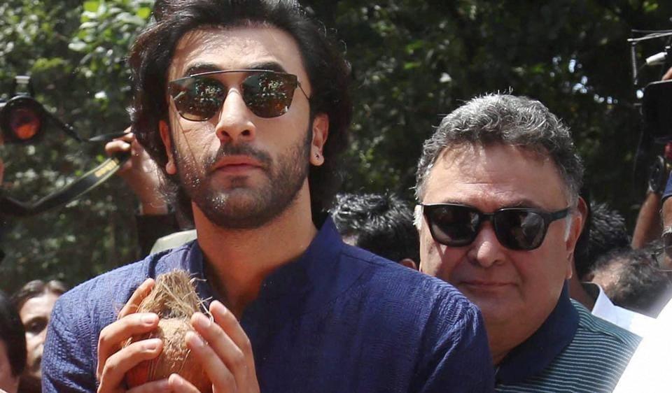 Ranbir Kapoor,Rishi Kapoor,Ganpati visarjan