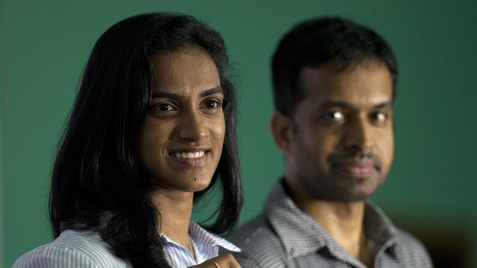 PV Sindhu with badminton coach Pullela Gopichand. The Olympic silver medallist has co-produced a film and timed it to perfection with Teachers' Day