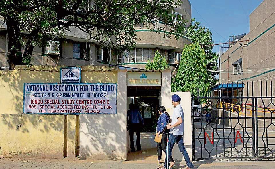 National Association for the Blind building at RK Puram in south Delhi.