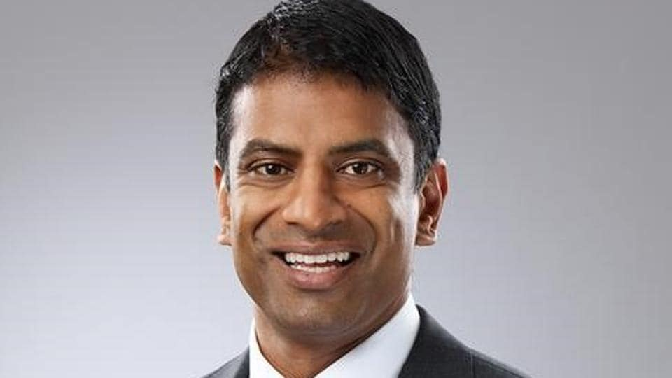 Newly appointed CEO of Swiss pharmaceutical company Novartis AG Vas Narasimhan.