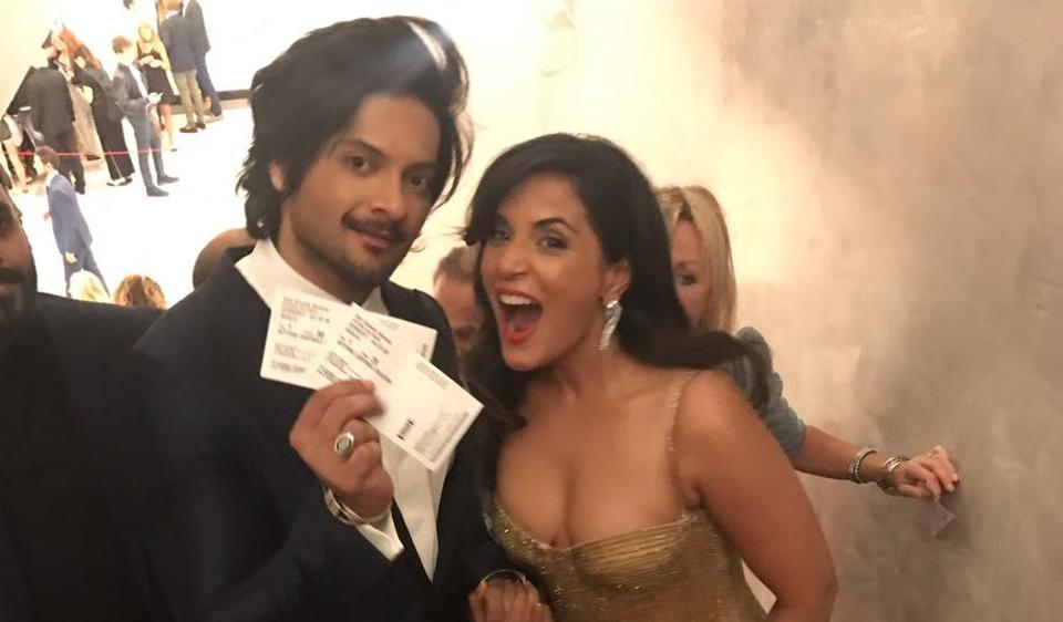 Richa Chadha and Ali Fazal at the world premiere of Victoria and Abdul.