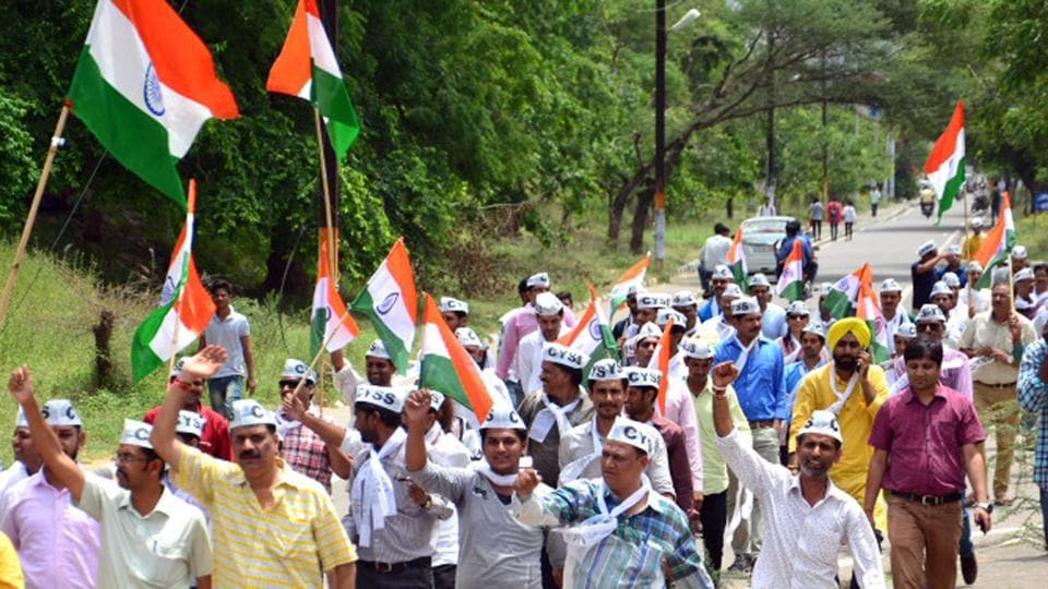 AAP, a new entrant to Rajasthan politics, has sprung a surprise on its rivals after winning the president post in twelve colleges.