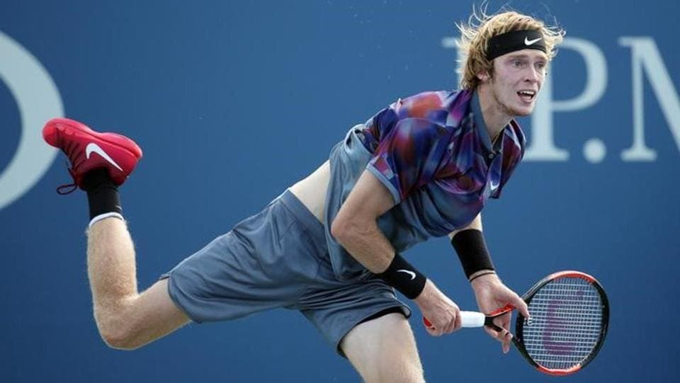 Russian Andrey Rublev beat Belgian David Goffin to set up a clash against former winner Rafael Nadal. (USA TODAY Sports)