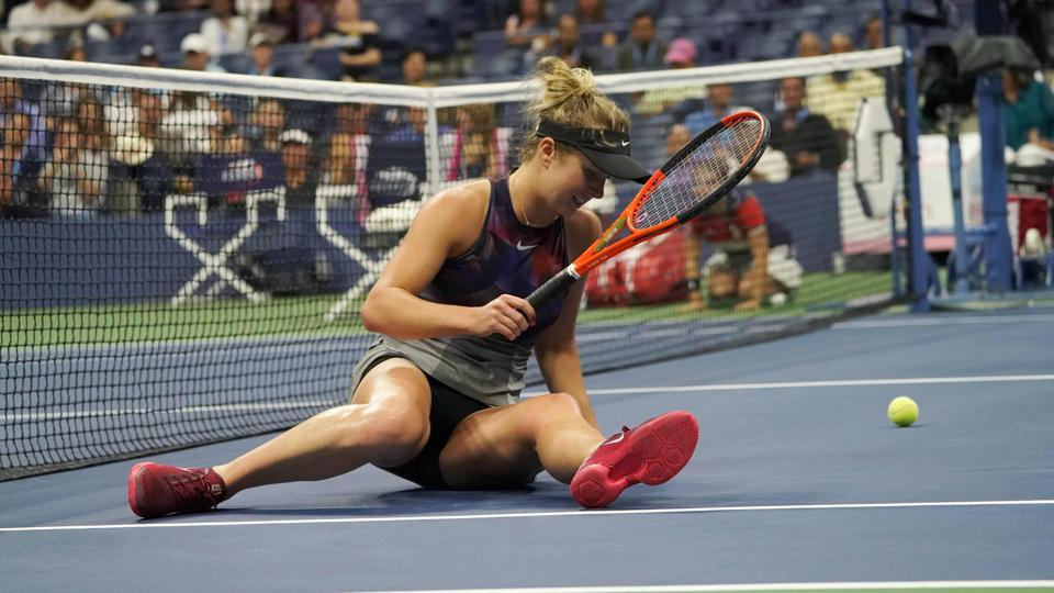 Fourth seed Elina Svitolina was ousted in three sets by local player Madison Keys in the fourth round in New York. (AFP)