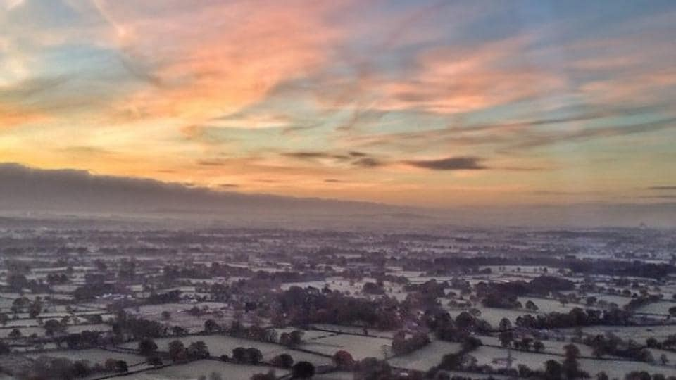 A cold icy morning over England.