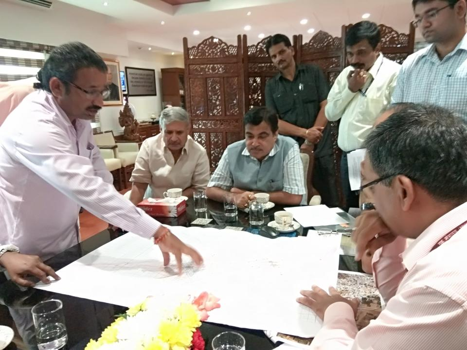 A group of 30 villagers met Union transport and highways minister Nitin Gadkari in New Delhi on Tuesday.