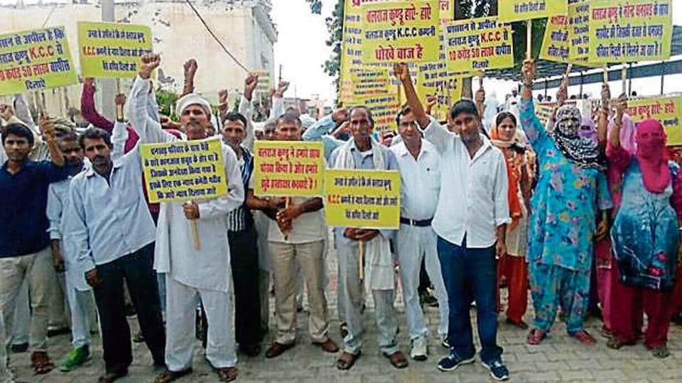 Rohtak villagers,dharna,BJP leader