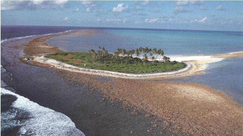 One of islands in Lakshadweep. A study says the Parali I island has been eroded to an extent of 100%. (Photo: Official website of the Lakshadweep administration)
