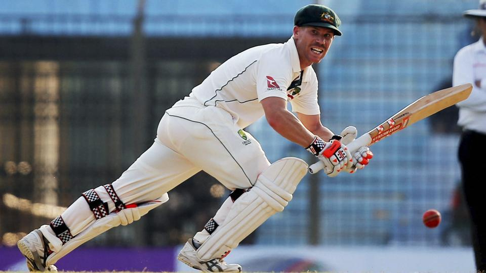 David Warner plays a shot during the third day of their second Test match against Bangladesh in Chittagong. Catch full cricket score of Bangladesh vs Australia, 2nd Test, Day 3 here.