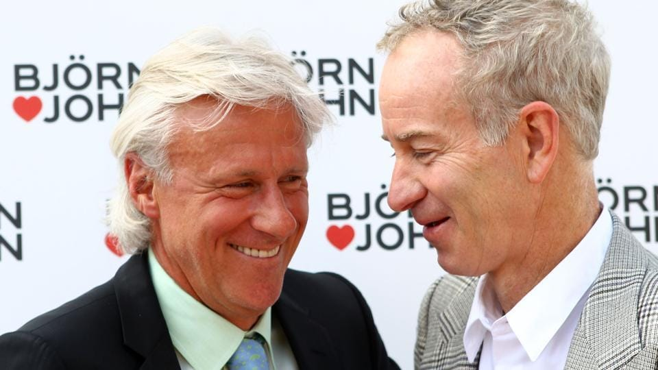 Bjorn Borg  (left) and John McEnroe have had some memorable clashes over the year with the best being the 1980 Wimbledon final, on which the film, Borg McEnroe is made.