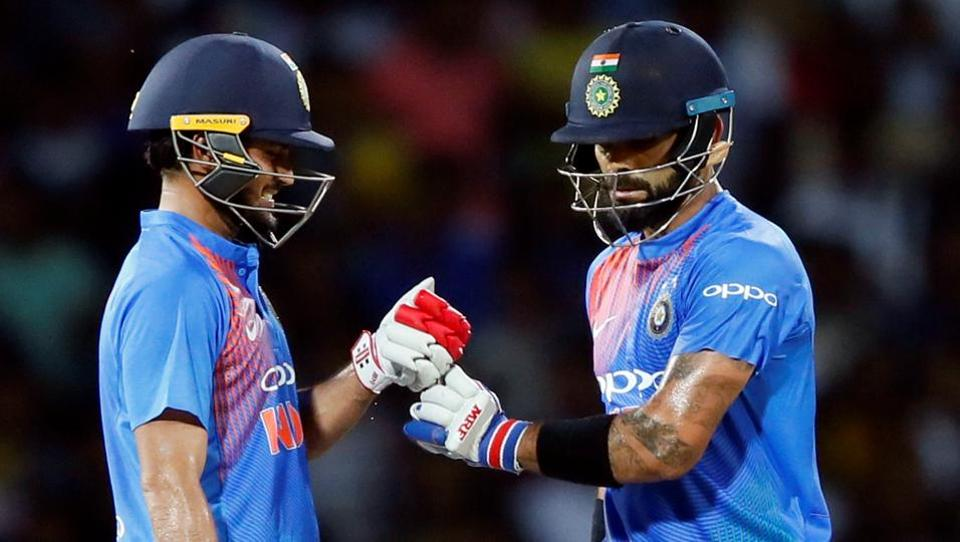 The duo stitched together a 119-run stand before Kohli fell to Isuru Udana for 82.  (REUTERS)