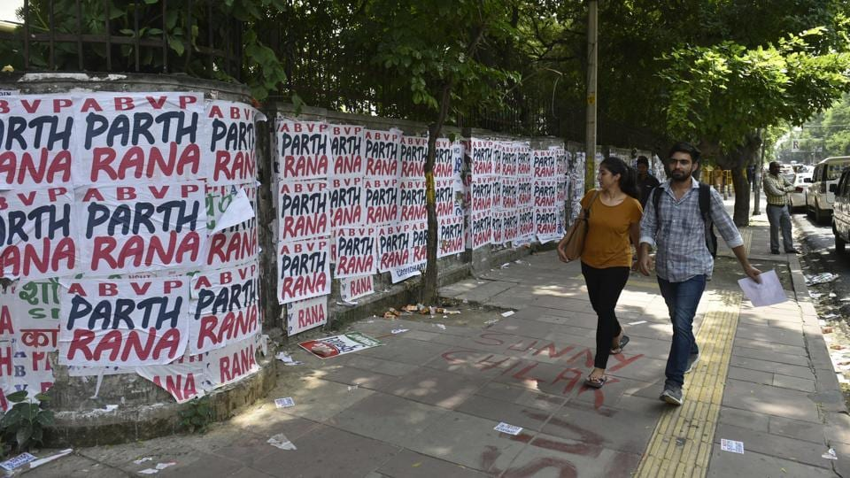 Use of posters and defacing public property has been prohibited both by the JM Lyngdoh committee on university elections as well as National Green Tribunal.
