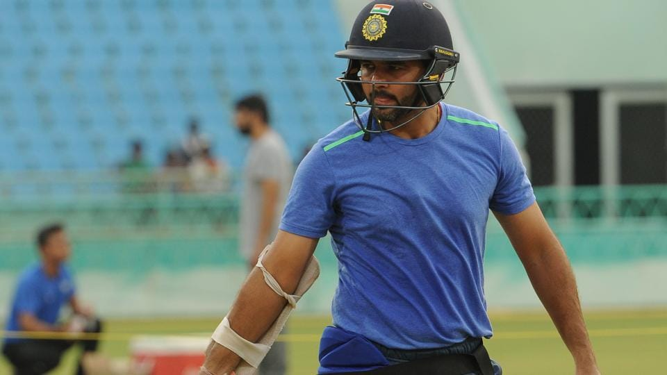 Parthiv Patel, India green team captain, during a training session at the Ekana International Cricket Stadium in Lucknow on Wednesday, ahead of Duleep Trophy.
