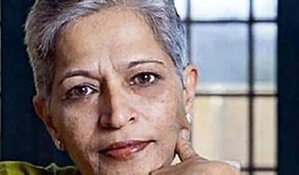 A file picture of Kannada journalist Gowri Lankesh who was shot dead by unidentified assailants in her  Bengaluru residence.  2017_000202B)