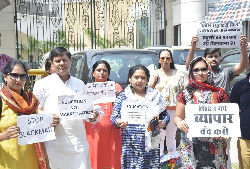 Parents had been on a week long protest outside Presidium School, Indirapuram in Ghaziabad.