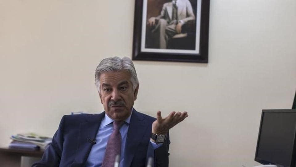 Khawaja Asif speaks during an interview with Reuters at his office in Islamabad March 6, 2014.