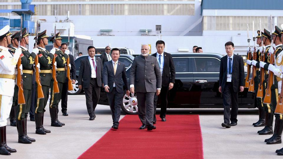 Prime Minister Narendra Modi leaves for Myanmar for a bilateral meeting after attending the BRICS Summit, in Xiamen, China on September 5.