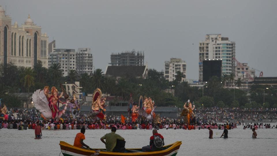 Mumbai,Ganapti immersions,Ganesh