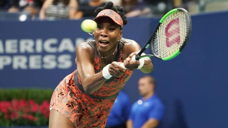 Venus Williams became the oldest Grand Slam semi-finalist since 1994 after she entered the semi-finals of the US Open.  (AFP)