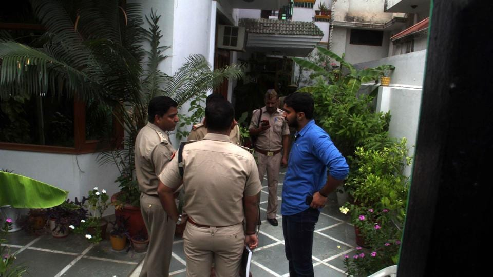 The two-storey bungalow belongs to Vinod Dayal, who lives with his wife Tina Dayal and mother-in-law Umi Dayal, the police said. The couple runs an institute of German studies in Sector 18.